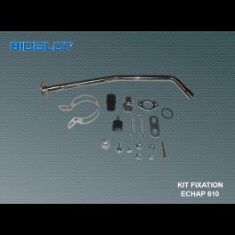 Ensemble fixation + tube de fuite echap610
