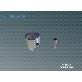 piston coulé Ø40mm PEUGEOT cyclo complet