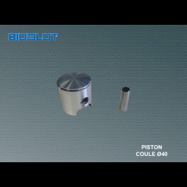 piston coulé Ø40mm PEUGEOT cyclo complet
